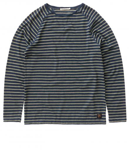 Nudie Jeans Otto French Stripes indigo | M