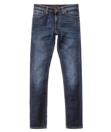 Nudie Jeans Skinny Lin Dark Deep Worn 31/34