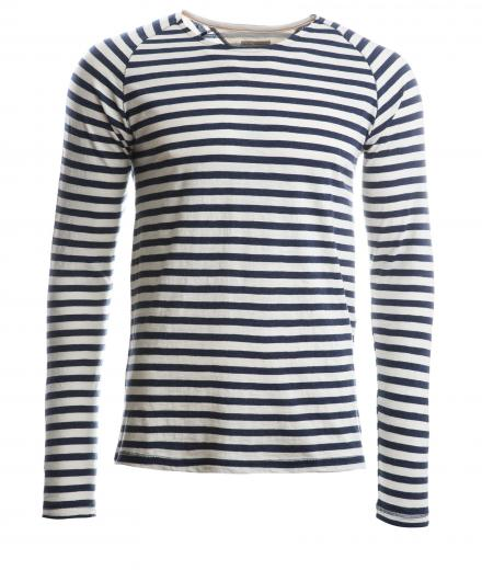Nudie Jeans Otto Raglan Bold Stripe
