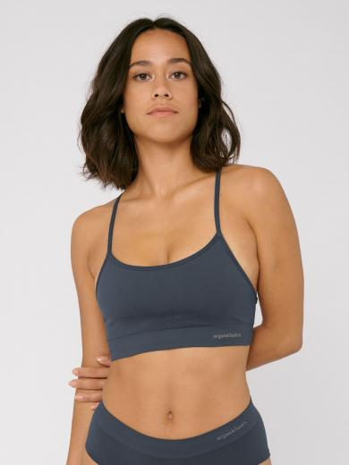 Organic Basics Silver Tech Active Sports Bra Sea Blue