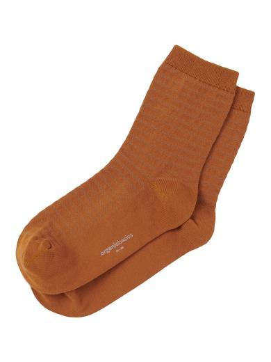 Organic Basics Organic Cotton Gestreifte Socken 2-Pack Ocher