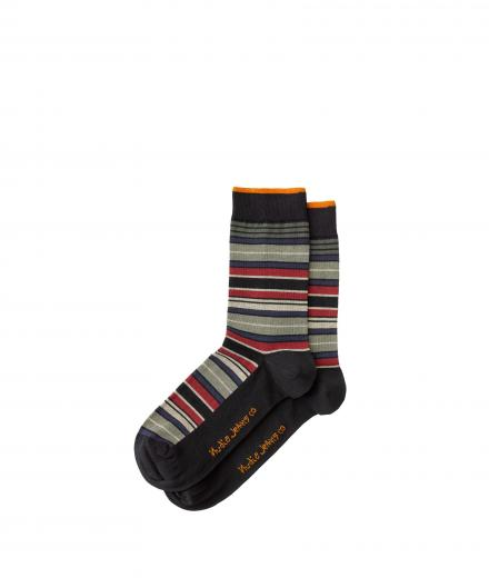 Nudie Jeans Olsson Mixed Stripe Socks