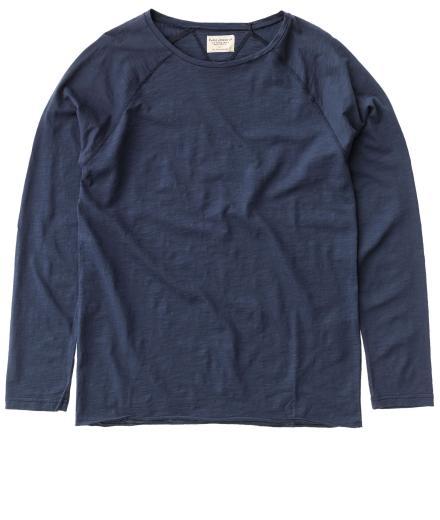 Nudie Jeans Otto Raw Hem Slub mid blue | S