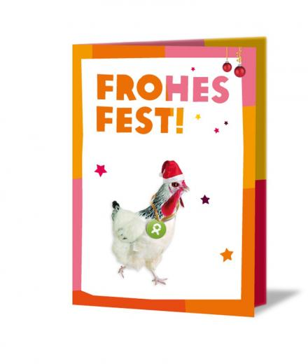 OxfamUnverpackt Frohes Fest Ein Huhn