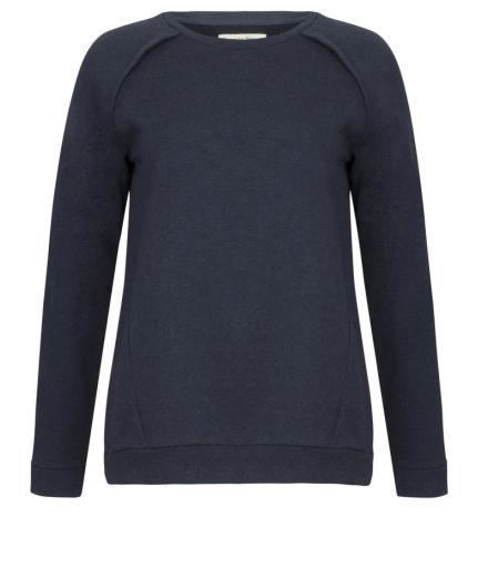 People Tree Maddie Sweatshirt Dark Blue Melange 36