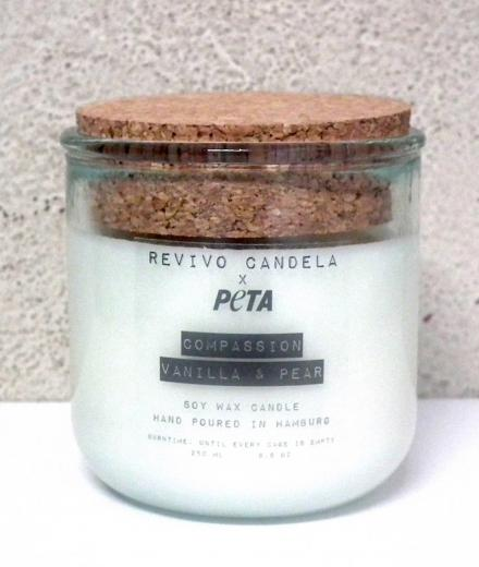 REVIVO CANDELA PETA Edition: Compassion Vanilla & Pear