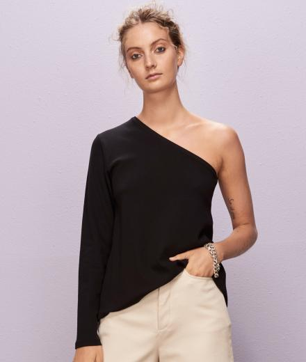 KOWTOW Playback Top Schwarz | S