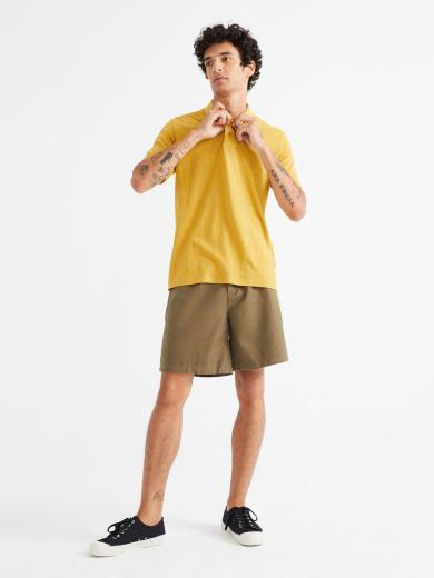 Thinking MU Hemp Polo Mustard