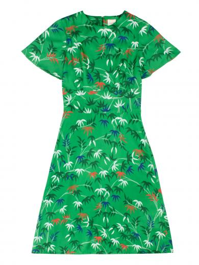 People Tree V&A Bamboo Print Obi Dress