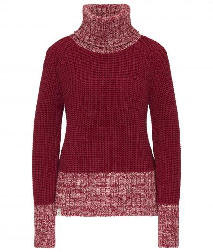 recolution Knit Turtleneck biking red