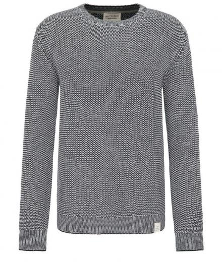 recolution Knit Crew Neck glacie grey/ black