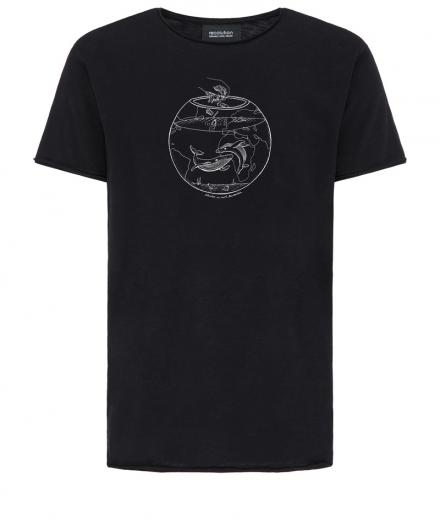 recolution Casual T-Shirt #OCEANGLASS black