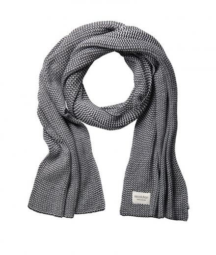 recolution Knit Scarf Maxi grey / black