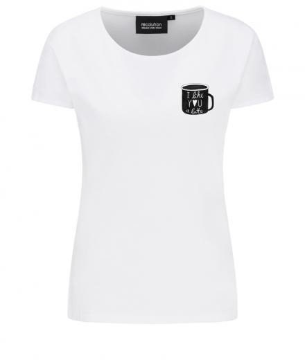 recolution Casual T-Shirt #I LIKE YOU white M