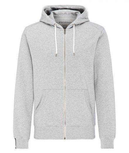 recolution Sweatjacke Basic Men grey melange