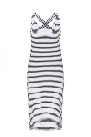 Sleeveless Jerseydress #STRIPES navy/white