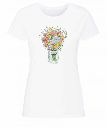 Frauen T-Shirt Casual #BOUQUET white | S