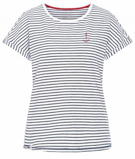 T-Shirt Casual Turn-Up #SEASTRIPES navy-white | S