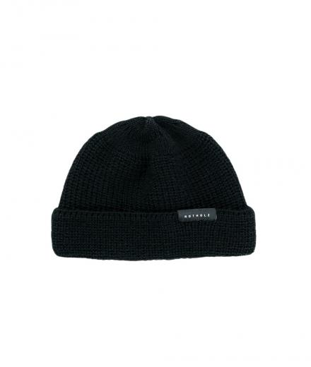 Rotholz Cropped Beanie wool black