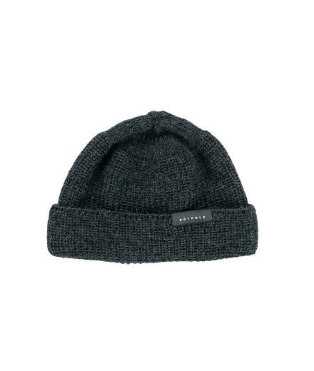Rotholz Cropped Beanie wool dark grey