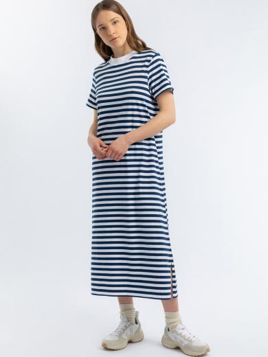 Rotholz T-Shirt Dress navy white