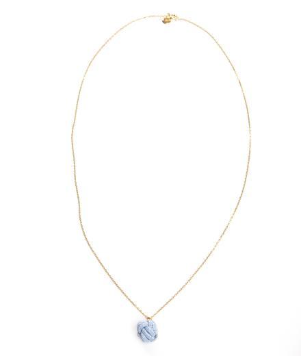 ROYAL BLUSH Fist Necklace Mini Blue