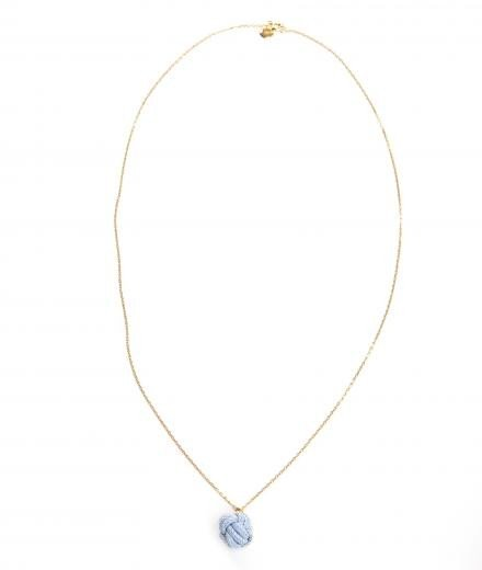 ROYAL BLUSH Fist Necklace Mini Blue