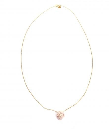 ROYAL BLUSH Fist Necklace Mini Nude
