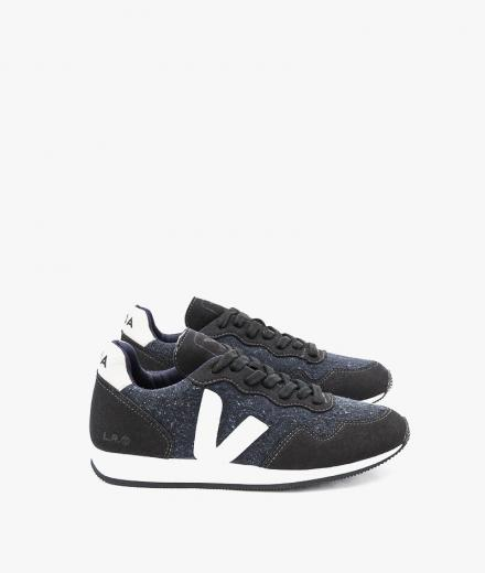 Veja SDU Flannel Dark Black White Women