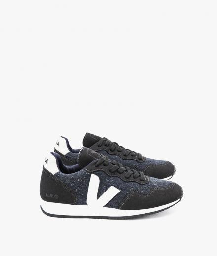 Veja SDU Flannel Dark Black White Men
