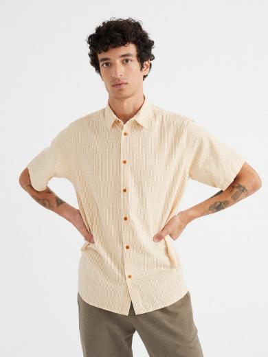 Thinking MU Seersucker Tom Shirt Mustard