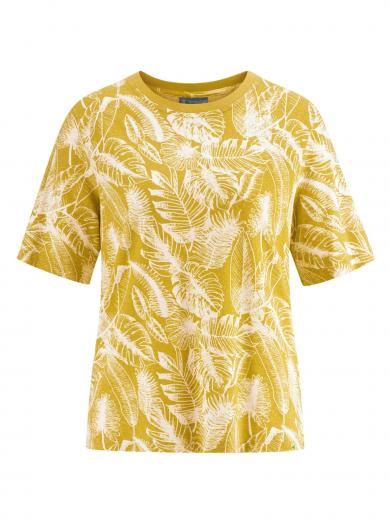 HempAge T-Shirt Jersey Jungle Print Curry