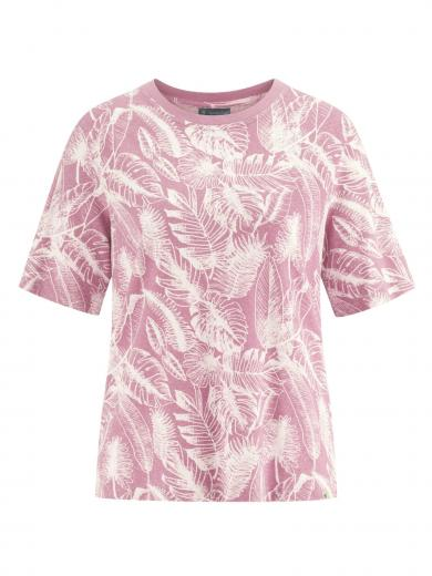 HempAge T-Shirt Jersey Jungle Print Rose