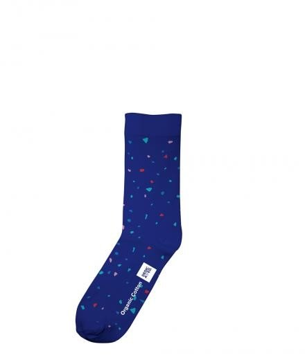 DEDICATED Socks Blue Confetti