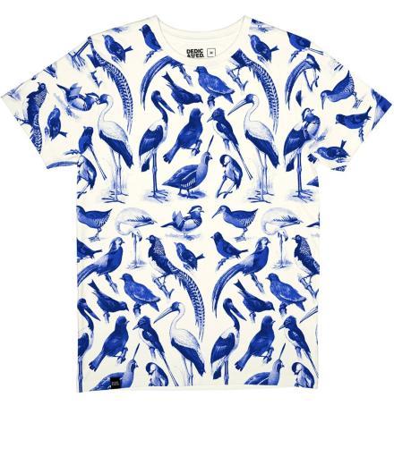 DEDICATED Stockholm T-Shirt Blue Birds