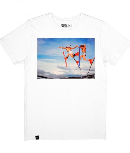 DEDICATED Stockholm T-Shirt Double Daffy White Felix St Clair