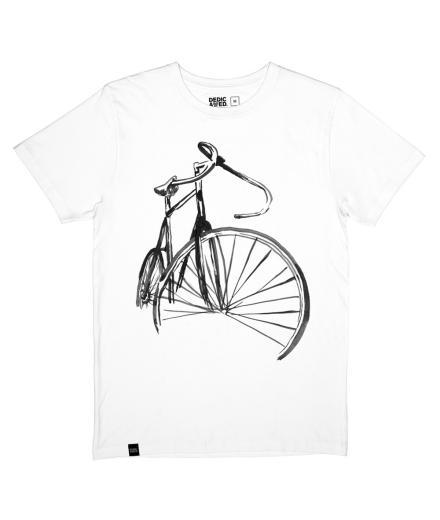 DEDICATED Stockholm T-Shirt Sketch Bike White