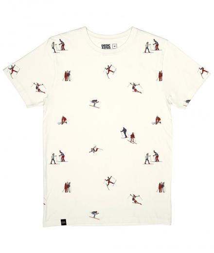 DEDICATED Stockholm T-Shirt Ski People white | M