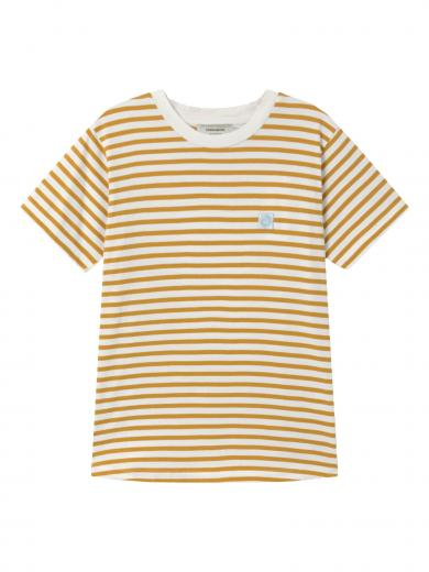Thinking MU Stripes T-Shirt Mustard