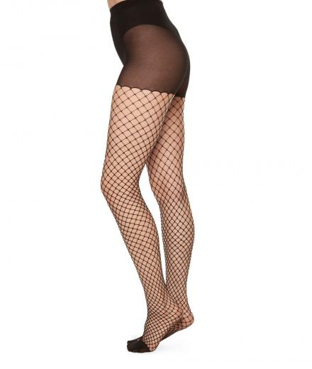 SWEDISH STOCKINGS Ruth Fishnet black | L