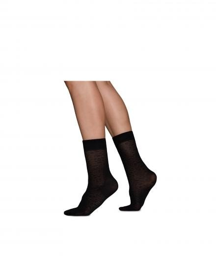 SWEDISH STOCKINGS Emma Leopard Sock