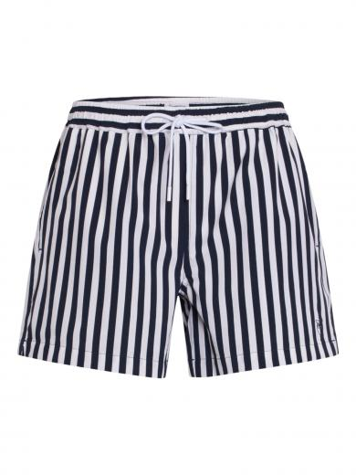 Knowledge Cotton Apparel Bay stretch swimshorts Striped total eclipse