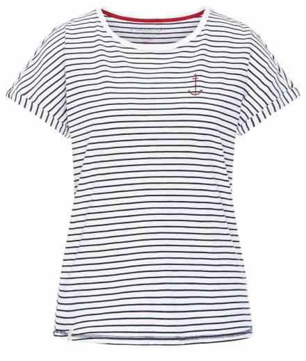 T-Shirt Casual Turn-Up #SEASTRIPES navy-white | M