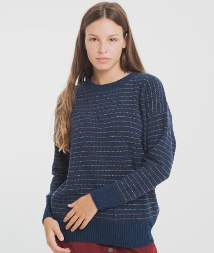 Thinking MU Blue Lines Sweater blue
