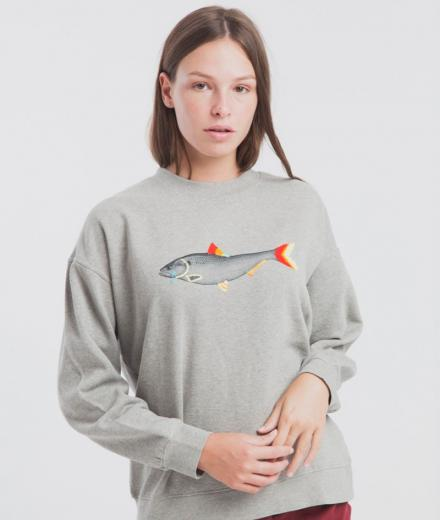 Thinking MU Sad Fish Sweatshirt Villana Art