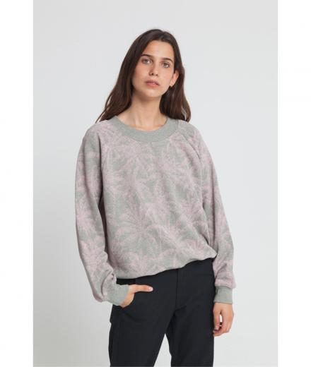 Thinking MU Grey Palmeras Sweatshirt grey melange | S