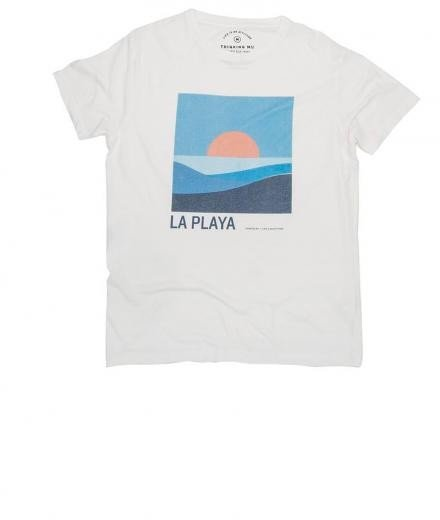 Thinking MU La Playa Tee Snow White | XL
