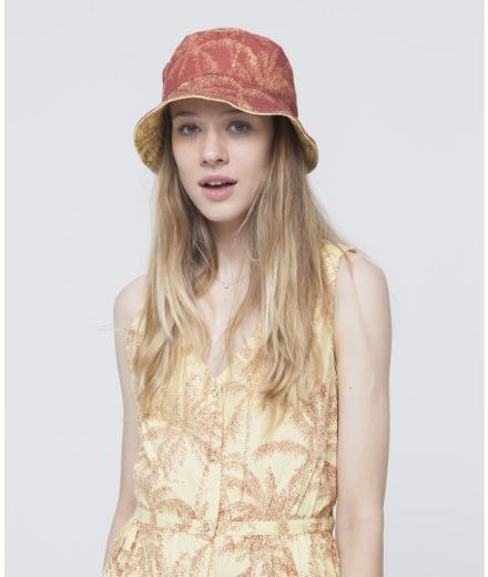 Palmeras Reversible Hat Yellow-Terracota | S