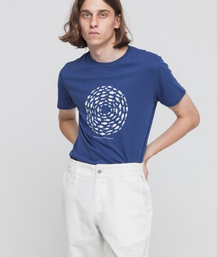 Thinking MU Think Planet T-Shirt blue marino | L