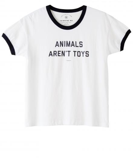 Thinking MU Animals Aren´t Toys Retro Tee